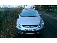 54 REG PEUGEOT 307 SW SE ESTATE 2.0 HDI, DIESEL, ONLY 64,000 MILES, FSH, EXCEPTIONAL CONDITION
