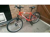 """17"""" Red bike for sale, still has warranty!"""