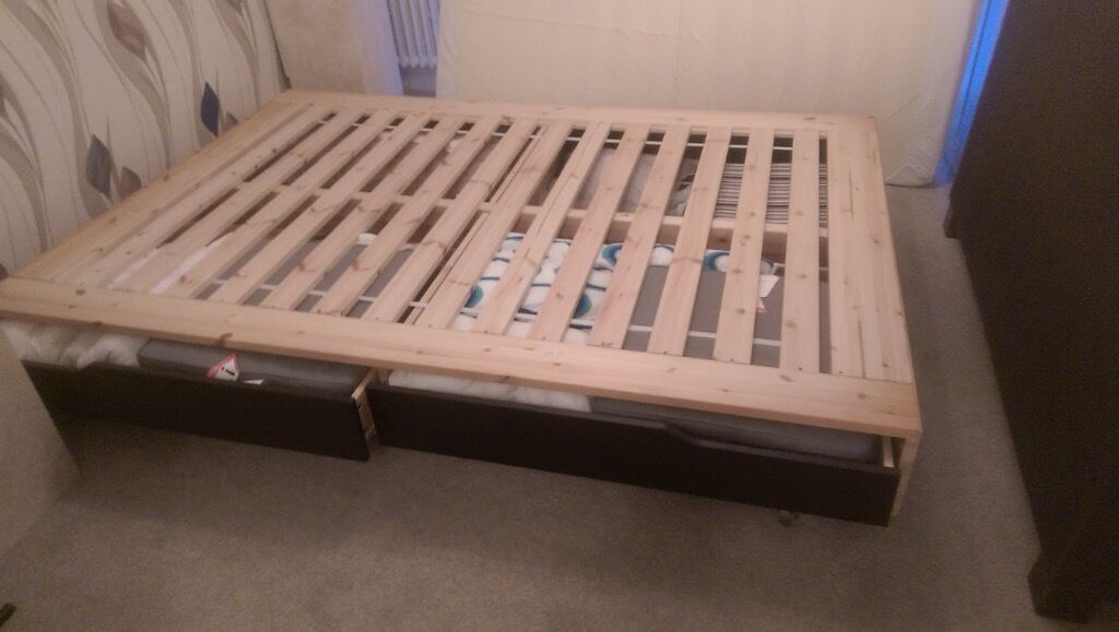 Pax Kleiderschrank Korpus Ikea ~ IKEA DOUBLE BED BASEMANDAL  Ikea double bed base ( MANDAL )  AS NEW