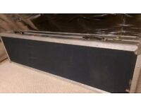 """COFFIN STYLE FLIGHTCASE FOR 2 TURNTABLES and 19"""" MIXER (used)"""