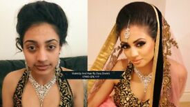 Asian Bridal/Party Makeup and Hair. Trial £25, Limited Time. See Before & After Photos.