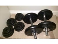 York dumbells with 40kg weights