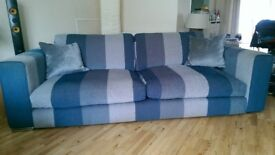 Large Clean Stylish Sofa from Sofa works new £1000