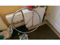 Chrome shower curtain ring