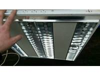 Office style 600mm x 600mm grid modular light fitting t5 florescent energy efficient lamps