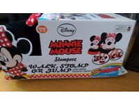 Minnie Mouse stompeez slippers size 10 to 12