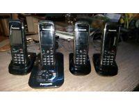 Panasonic Quad set of phones with answer phone