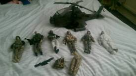 Hm forces figures with helicopter