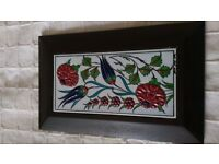 Authentic Turkish tile frames, hand painted