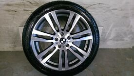 ALLOYS X 4 OF 20 INCH GENUINE BMW BORBET X5/M/E70/X6/333/E71/JUST BEEN FULLY DIAMOND CUT WITH TYRES