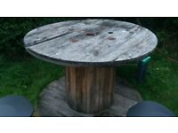 Large cable reel table