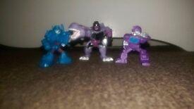 3 Transformers Figures