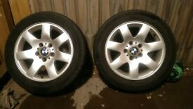 Set of 4 Bmw 5x120R16 alloys with tires