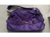 Patrick Cox purple leather handbag
