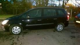 Vauxhall Zafira, 7 seater, long MOT