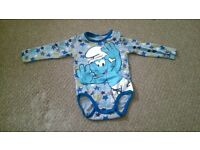 baby boy smurf vest 6-9