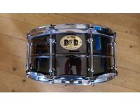 Pork Pie Big Black snare drum 14x6.5 brass shell. Excellent condition.