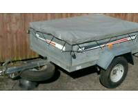 Erde142 5'x3' tipping trailer complete with cover and spare wheel 275 or stop Honda 125 or WHY