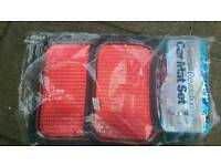 As new red Argos heavy duty car matts