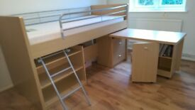 Dreams Hampshire cabin bed with mattress excellent condition, no scratches