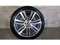 ALLOYS X 4 OF GENUINE BMW 20 INCH BORBET X5/M/E70/X6/333/E71/JUST BEEN FULLY DIAMOND CUT WITH TYRES