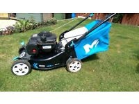 petrol lawnmower self propelled 15 months old only used 3 times moved house hence sale