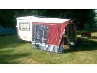 Esterel Folding Caravan - Caramatic A34 with awning for sale - £1200 ono – Manchester **Reduced**