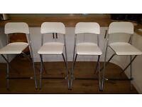 White/silver Ikea bar stools x 4