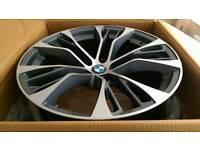 "*NEW* SET OF BMW 22"" PERFORMANCE ALLOY WHEELS 5X120 X3 X4 X5 X6 RANGE ROVER VW TOUAREG MSPORT T5"