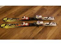 Girl, Boy, Child, Junior Volki Downhill Carver Skis 110cm plus Marker bindings