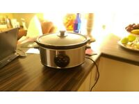 SWAN SLOW COOKER STAINLESS STEEL