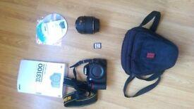 Excellent condition Nikon D3100 and Nikon AF-S 18-55mm f/3.5-5.6G DX VR