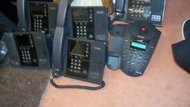 6 polycom telephones CX 600 IN CLEAN CONDITION