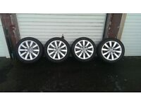 "17"" audi alloy wheels and tyres."