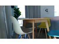 John Lewis Oak Veneer Table as good as new, 100cm diameter, very good quality