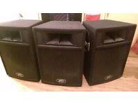 3x 250W Full Range Speakers (Passive)