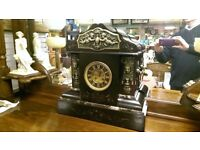 Large antique Mantle Clock French Clock