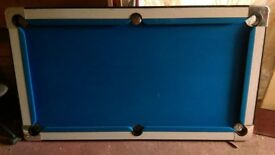 Blue Cloth Pool Table