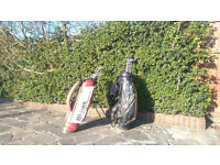 Wilson clubs (full set)& lightweight bag plus Macgregor bag and assorted clubs