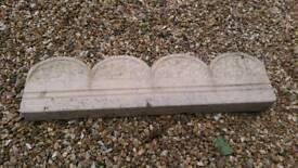 10 X buff coloured scallop design stone garden or patio edging