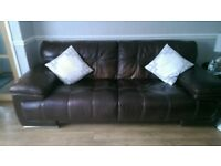 leather sofas 3 and 2 seaters