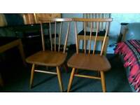 Lovely pair of children's chairs