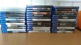 35 PS4 Games and 3 blurays