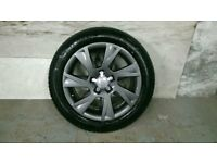 ALLOYS X 4 OF 17 INCH GENUINE AUDI A5 S/LINE FULLY POWDERCOATED IN A STUNNING ANTHRACITE IODINE NICE