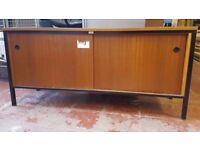 Vintage Sideboard Retro teak Console Table Industrial FREE MANCHESTER DELIVERY