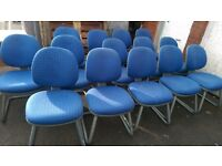 Office Reception Chair / Meeting Waiting Room Heavy Duty Chairs / Retro Blue