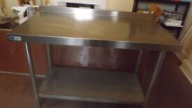 Industrial Stainless steel preparation table with under shelf