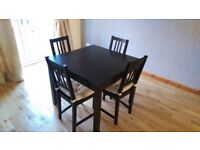Ikea Bjursta Extendable table and 4 chairs