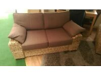 knightbridge abaca 2 seat sofa and chair, natural look,