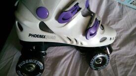 Unisex Phoenix Quad Purple Roller Boots Size 7